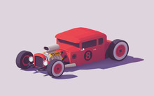 Vector Low Poly Classic Hot Ro...