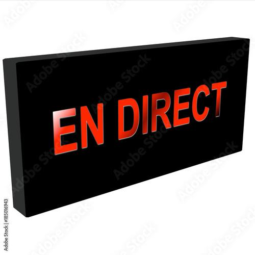 en direct 3D Poster