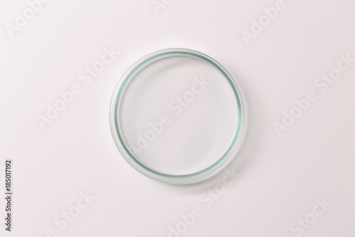 Photo  Empty petri dish for growing cultures of microorganisms , fungi and microbes