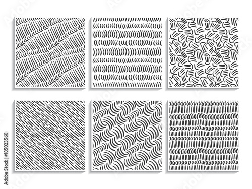 doodle patterns set sketch textures simple black buy this stock