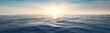 canvas print picture - Wasserwellen im Meer bei Sonnenuntergang