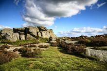 .Landscape View Of Ilkley Moor...