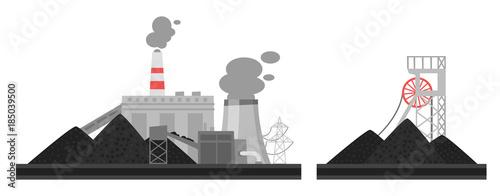 Foto illustration of coal plant.