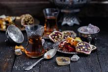 Turkish Tea With Authentic Gla...