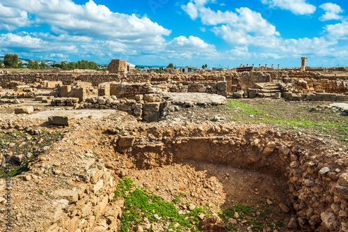 Ruins of ancient town in Paphos archaeological site, Paphos, Cyprus Wallpaper Mural