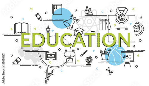 flat colorful design concept for education infographic idea of making creative products template for