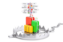 Fraud In Travel Concept, 3D Rendering