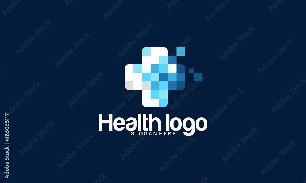 Fototapeta Health logo designs template, Medical logo in modern style vector
