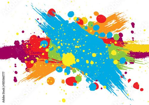 Fotografia  abstract vector splatter color background