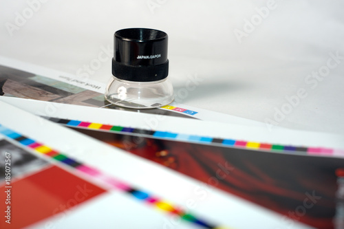 Magnifier On A Color Chart Buy This Stock Photo And Explore