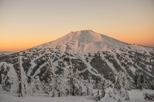 The Snow Covered Cascade Mount...