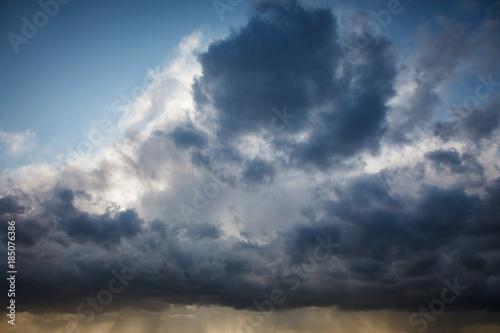 Spoed Fotobehang Onweer Natural background: dark stormy sky