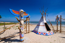 Native American Indian Tepee A...