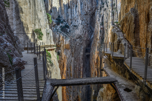 Spain Andalusia Caminito del Rey Canvas Print