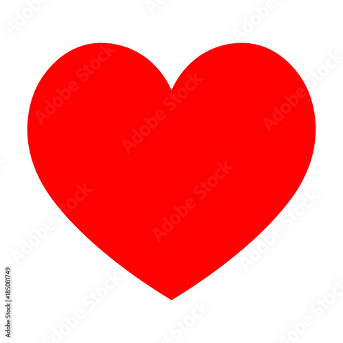 Fototapeta Red Heart icon vector flat illustration obraz na płótnie