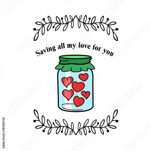 In de dag Retro sign With Valentines day.