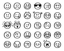 Modern Outline Style Emoji Ico...