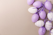 Purple Decorated Easter Eggs