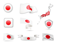 Japan Flags Collection. Flags ...