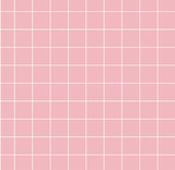 Pink background with white grid. Backdrop for trendy design, modern collages, creative art - 185094937