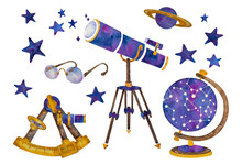 The Set Of Vintage Astronomica...