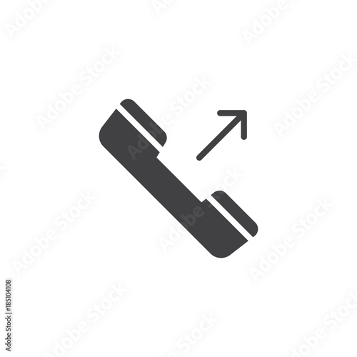 Fotografia, Obraz  Outgoing phone call icon vector, filled flat sign, solid pictogram isolated on white