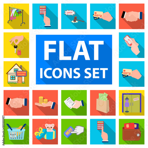 E commerce and business flat icons in set collection for design e commerce and business flat icons in set collection for design buying and selling altavistaventures Images