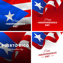 Banner Or Poster Of Puerto Ric...