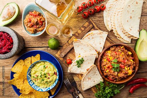 Fotografía  Mexican food mix