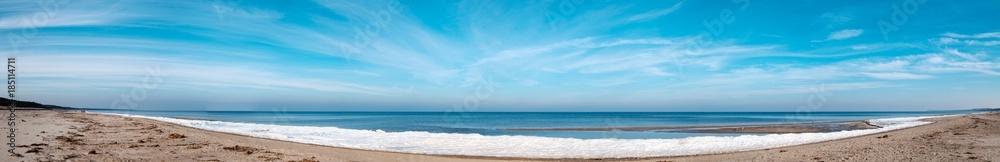 Fototapety, obrazy: Panorama eines Strandes auf Usedom im Winter
