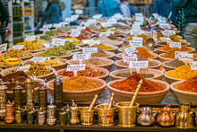 Spices At The Market In The Ol...