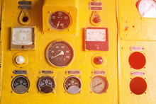 The Old Control Panel By Train...