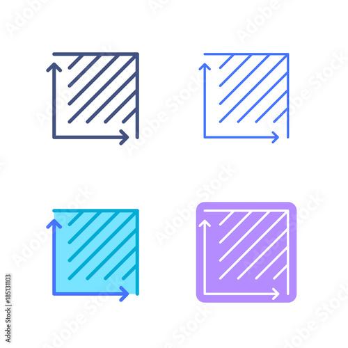 Area concept linear symbols Canvas Print