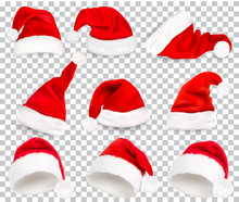 Collection Of Red Santa Hats O...