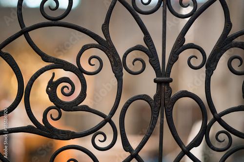 Fotomural Decorative Metal Gate Texture