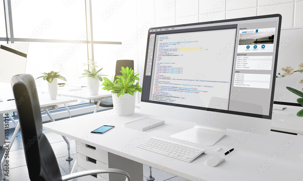 Fototapeta computer coding software
