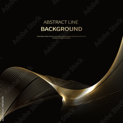 Fototapeta Abstract background of luxury gold lines obraz