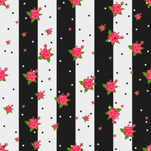 Floral Seamless Pattern In Ret...