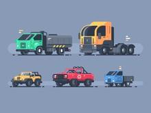 Set Of Types Cars