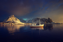 Fishing Boat And Reine Village...