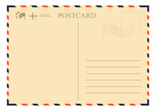 Vintage Postcard Template. Ret...