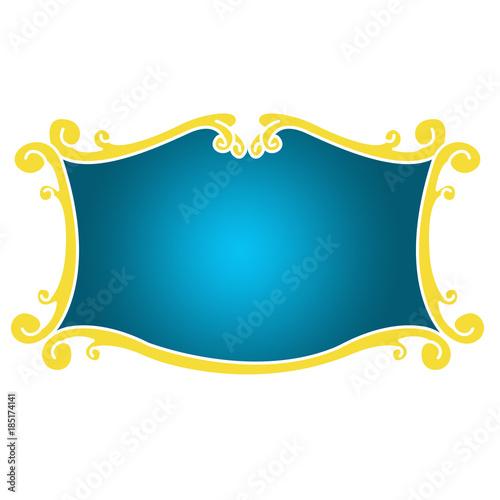 Fotografie, Obraz  Escudo de moldura ilustração
