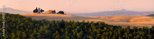 Cappella di Vitaleta , Val d'Orcia in Tuscany, a UNESCO world heritage site, Italy, Scenic panorama Canvas