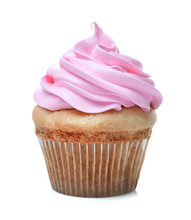 Delicious Cupcake On White Bac...