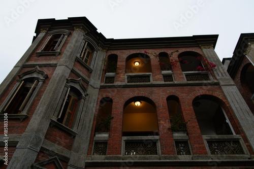 Foto op Aluminium Oude gebouw building Architecture facade ancient and tourism.