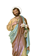 St Joseph Statue Isolated