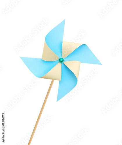 Obraz na plátne Toy pinwheel on white background