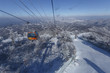 SEOUL, SOUTH KOREA - DECEMBER , 2016: ski resort with ski lifts, preparation for the 2018 Winter Olympics in South Korea, ski slope