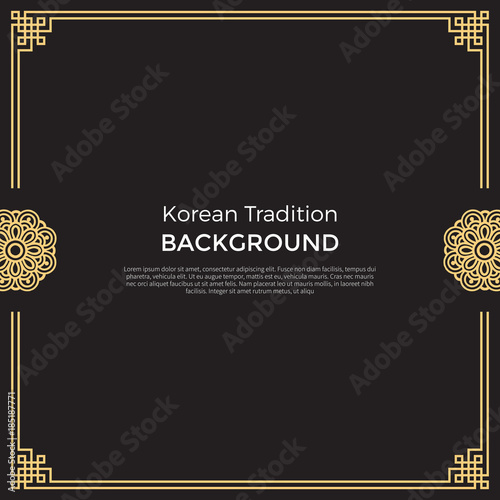 Valokuva  Korean traditional pattern background banner
