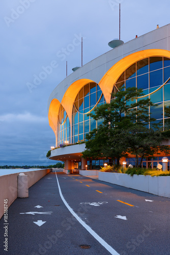 The Monona Terrace Community and Convention Center after sunset Canvas Print